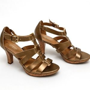 NATURALIZER DAFNY High Heel Leather SPICED GOLD 8